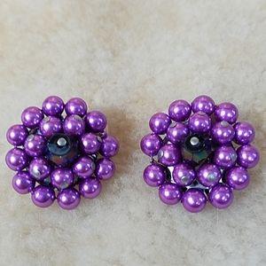 Vintage Purple Clip-ons